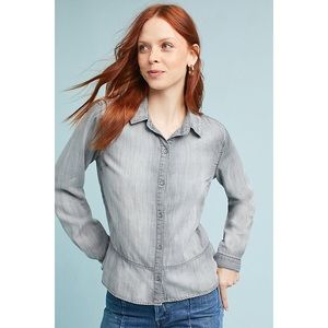 Cloth and Stone Ruffle Peplum Button Down Top